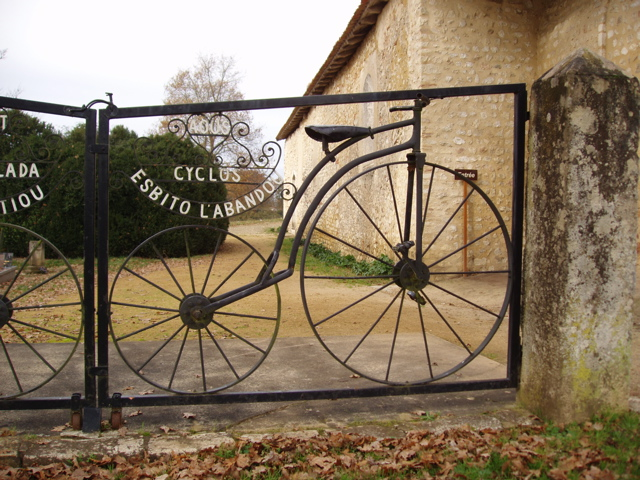 Ornamental gate at this national monument, la Chapelle Notre Dame des Cyclistese